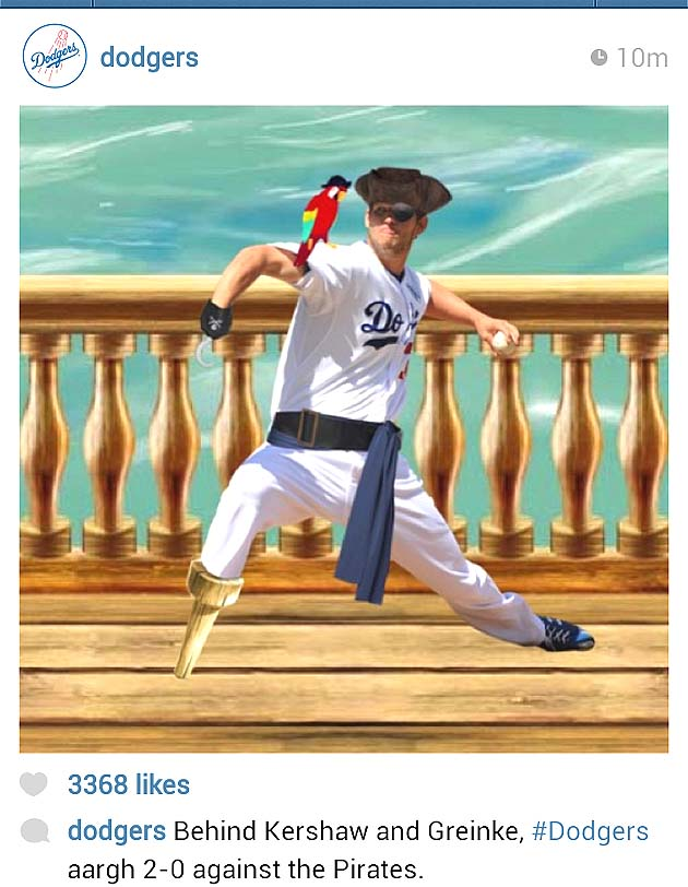 Los Angeles Dodgers imagine Clayton Kershaw as real Pirate with…
