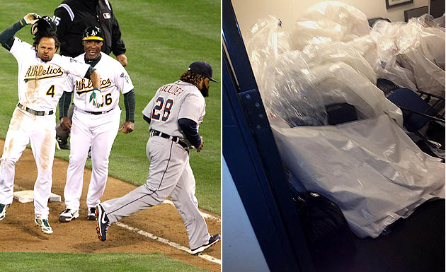 Break it down, ASAP! Plastic removed from Tigers lockers after …