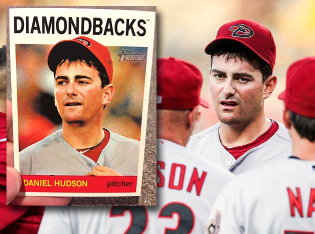 Daniel Hudson's baseball card is from game when he blew out elb…