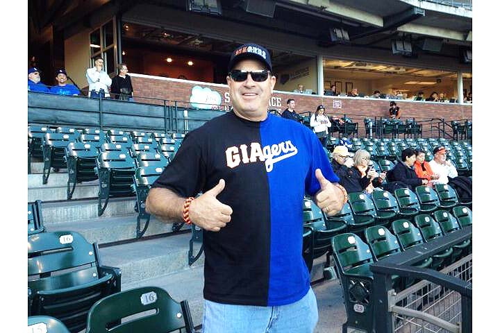 Go 'Giagers'! Area man wears hybrid Giants-Dodgers T-shirt and …