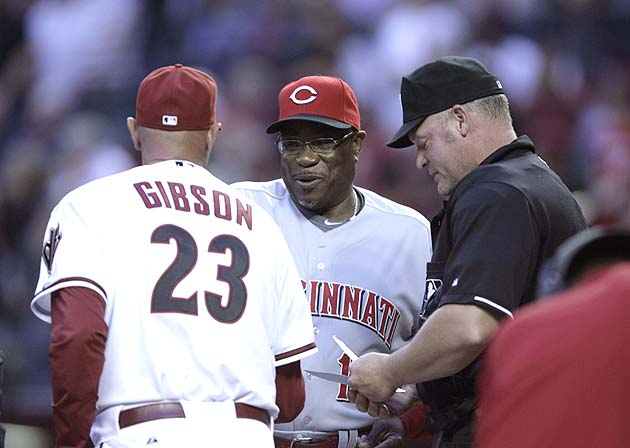 Dusty Baker won't shake Kirk Gibson's hand because of DH rule d…