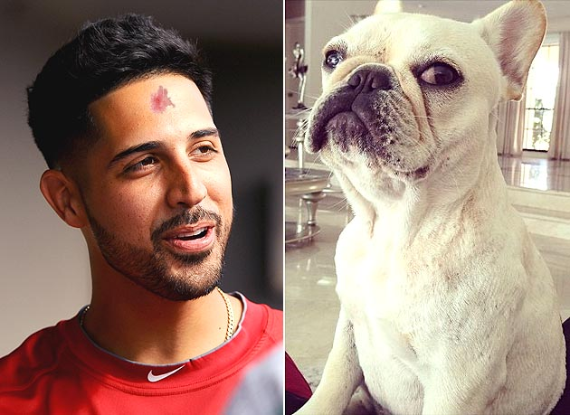 Gio Gonzalez suffers rug burn on forehead wrestling