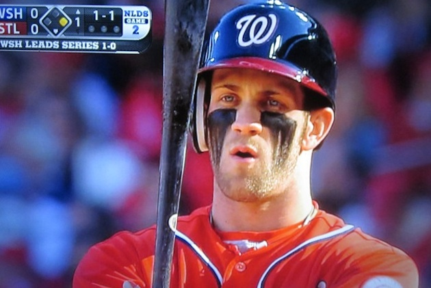 Bryce Harper's Ultimate Warrior look is back