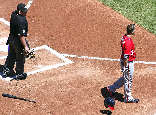 Bryce Harper ejected by John Hirschbeck, but he finds his cool …
