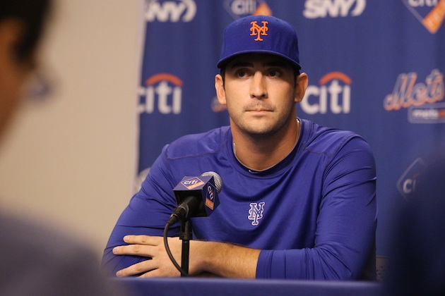 Matt Harvey says he'll be ready for opening day next season