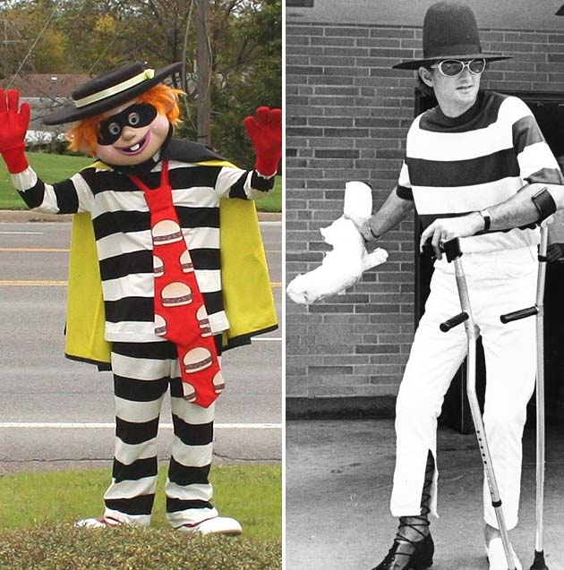 Hawk Harrelson vintage photo: Hamburglar chic