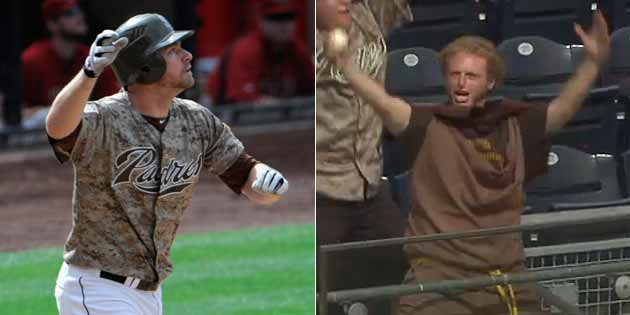 Chase Headley's grand slam was caught by a dancing man wearing …