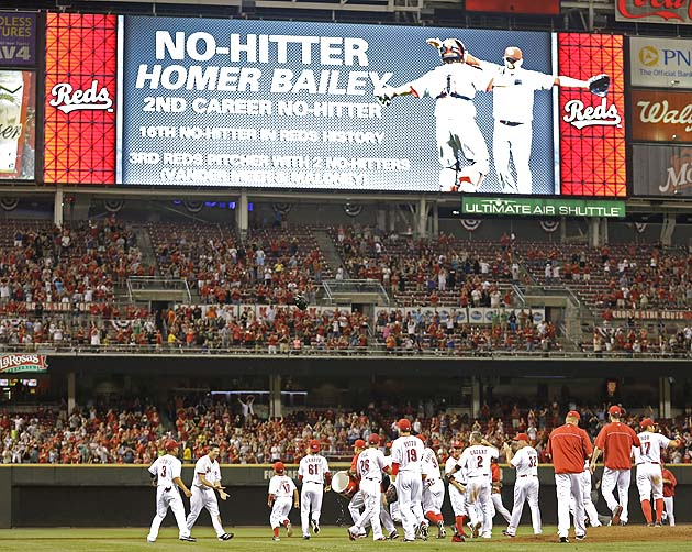 Homer Bailey's no-hitter: Reds take great care to authenticate …