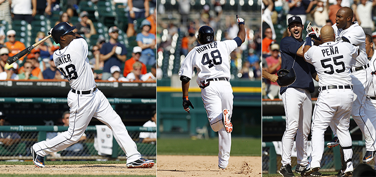 Torii Hunter's three-run walk-off homer turns a rough day for t…