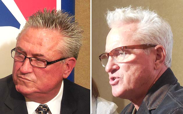 Clint Hurdle looking a lot like Joe Maddon - or is it the other…