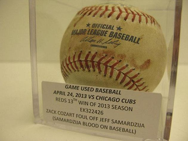 Reds auction off baseball stained with Jeff Samardzija's blood
