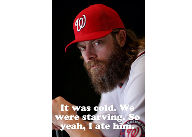 Challenge answered: The best memes of Jayson Werth and his bear…