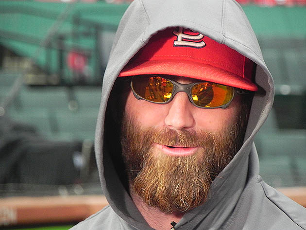 Photo: Jason Motte ready for his close-up