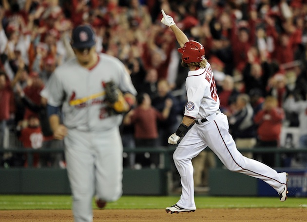 NLDS Game 4: Jayson Werth walk-off home run forces Game 5 for N…