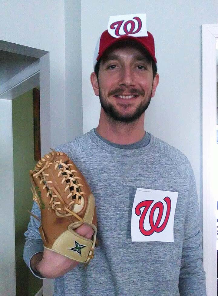 Jerry Blevins swiftly changes into homemade Washington National…