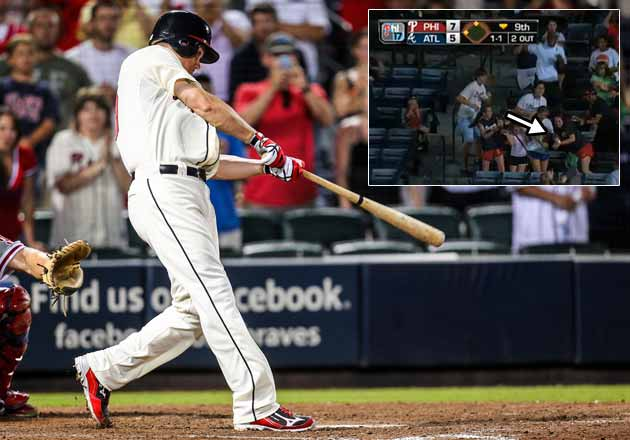 Chipper Jones' big home run was caught on the fly by a 15-year-…