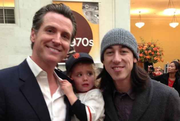 Tim Lincecum scares and frightens Gavin Newsom's daughter (Crea…