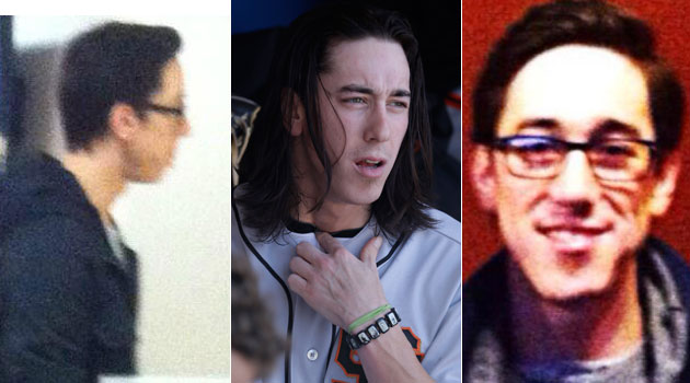 Tim Lincecum's hair is no longer very long