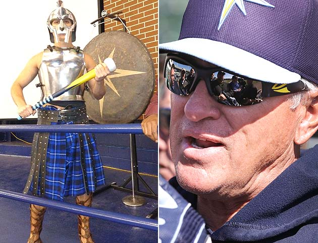 Get it on: Tampa Bay Rays manager Joe Maddon puts gong in Tropi…