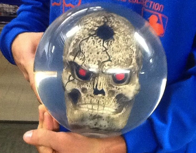 Mets pitcher Shawn Marcum has a new scary-looking bowling ball