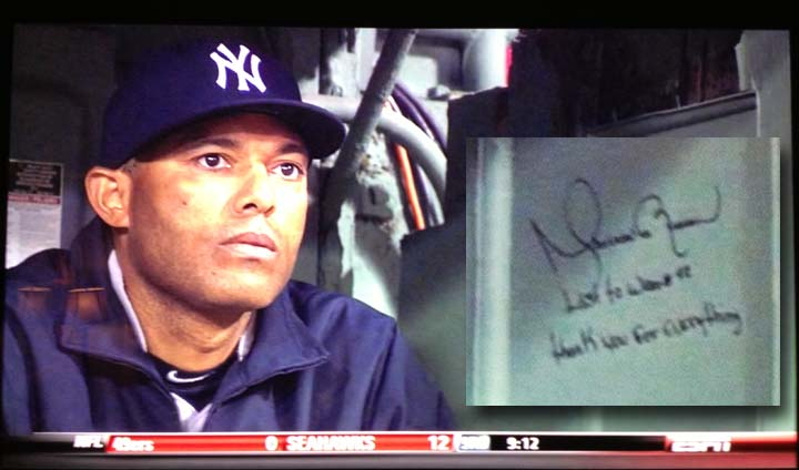Mariano Rivera inscribes 'thank-you' message inside bullpen as …
