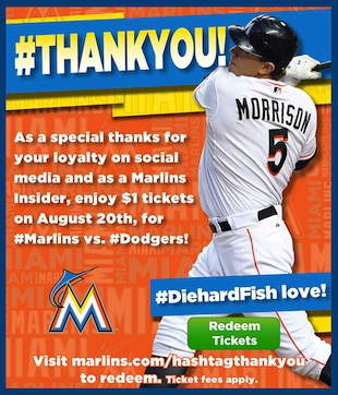 Miami Marlins offering $1 tickets to 'diehard' fans