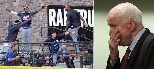 Senator John McCain calls the Dodgers 'overpaid, immature, arro…