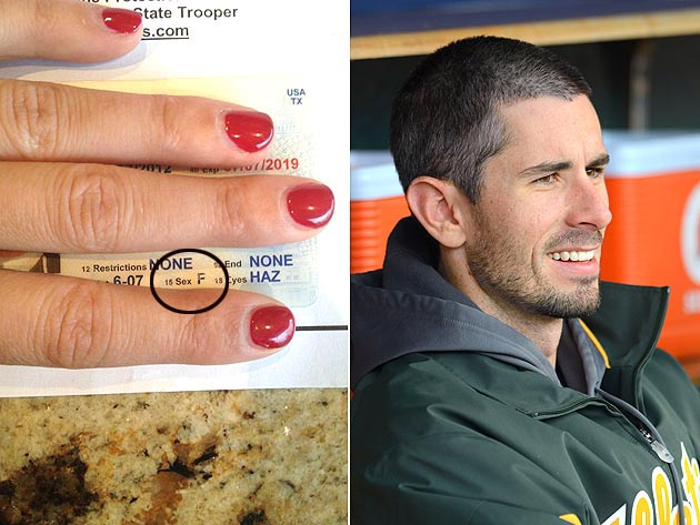 Brandon McCarthy's driver's license says he is female