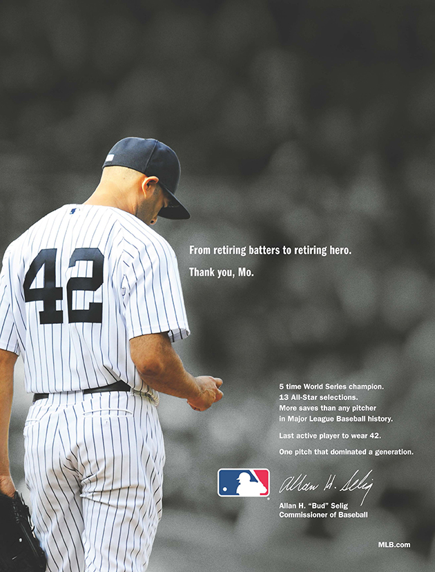 MLB honors Mariano Rivera with video and newspaper ad