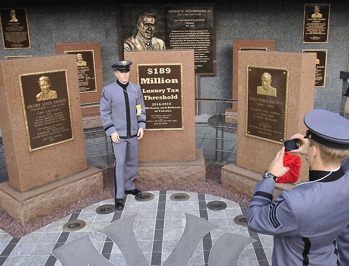 Imagine: Yankees place '$189 million' plaque in Monument Park t…