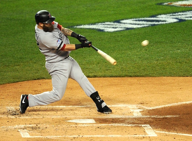 Mike Napoli's monster home run starts early rally for Red Sox