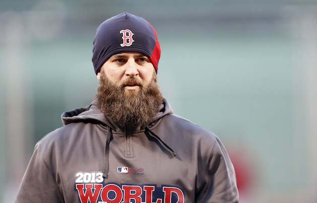 Mike Napoli, the Red Sox's powerful pinch hitter, never gets th…