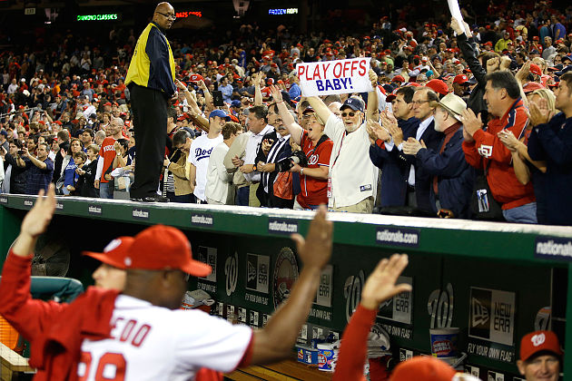 Nationals clinch playoff spot, first for D.C. team since 1933