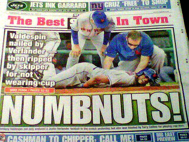 'Numbnuts!': Jordany Valdespin decked in headline by New York P…