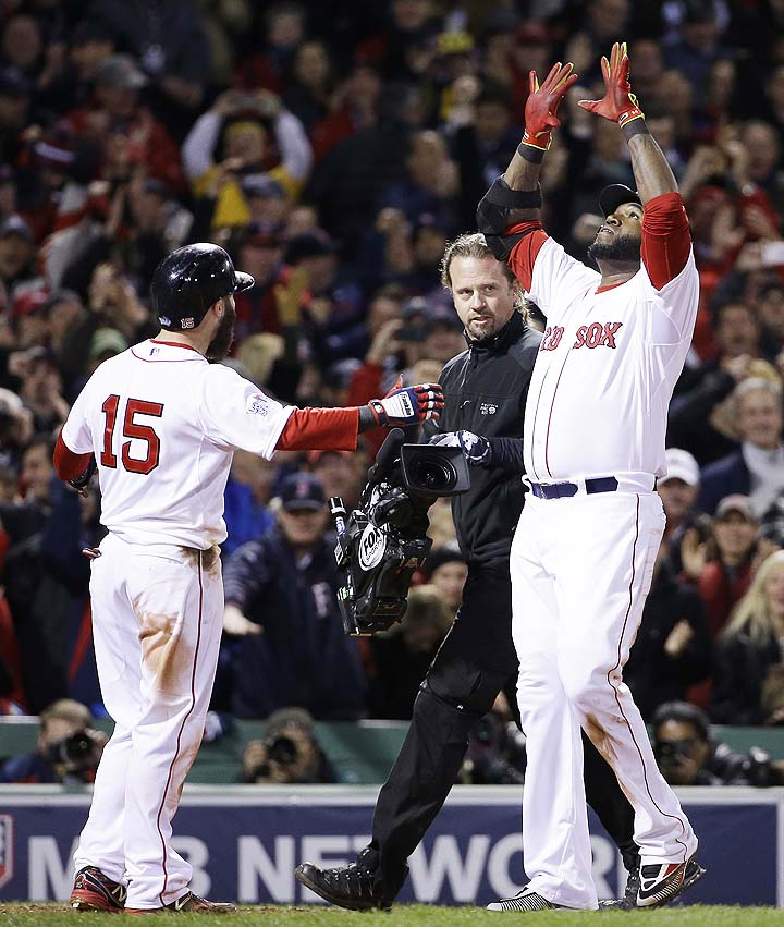 Big pop! David Ortiz homers over Monster to put Red Sox up 2-1 …