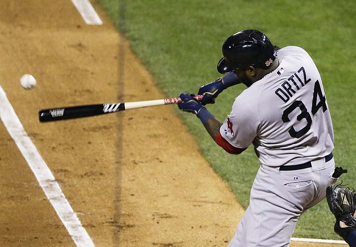 David Ortiz makes an out at the World Series
