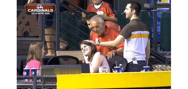 'Nice goin', boyfriend': Woman hit in face with home run at Cha…