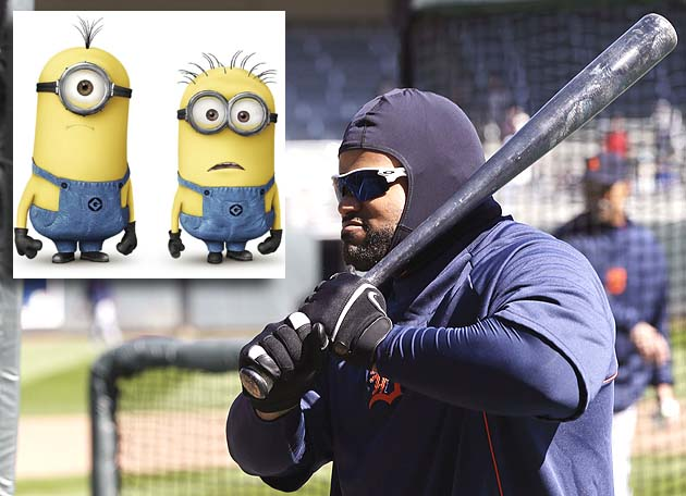 Prince Fielder fights Minnesota chill by wearing sausage casing…