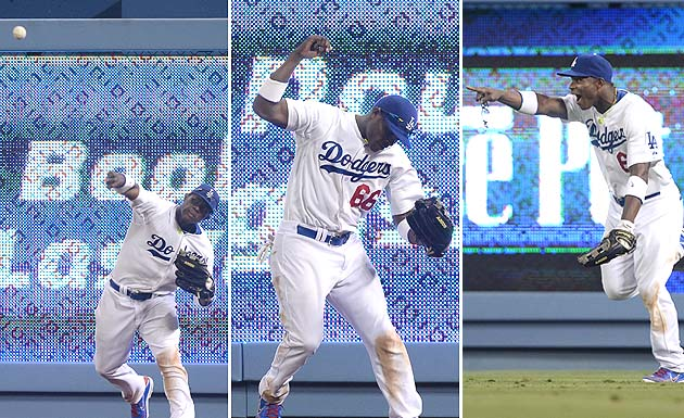 Yasiel Puig makes ridiculous throw for game-ending double play …