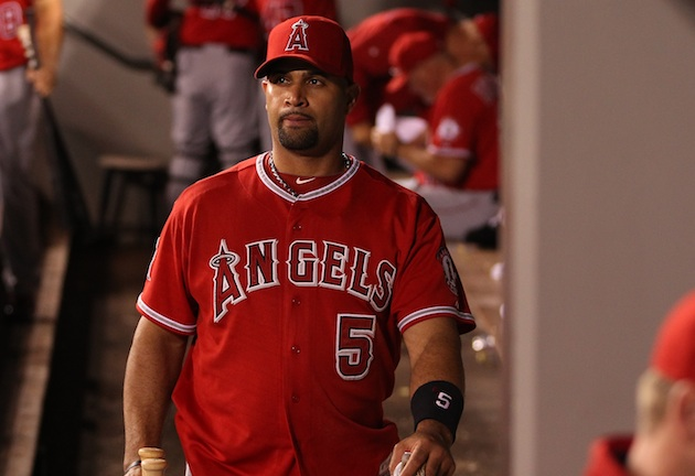 Cardinals fans seem happy that Albert Pujols won't be appearing…