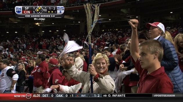 Sorry-looking broom jinxes Cincy's sweep chances