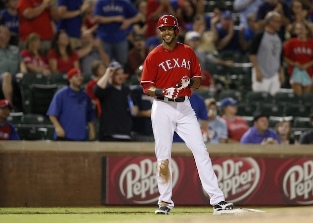 Alex Rios hits for the cycle as Rangers trounce Astros 12-0