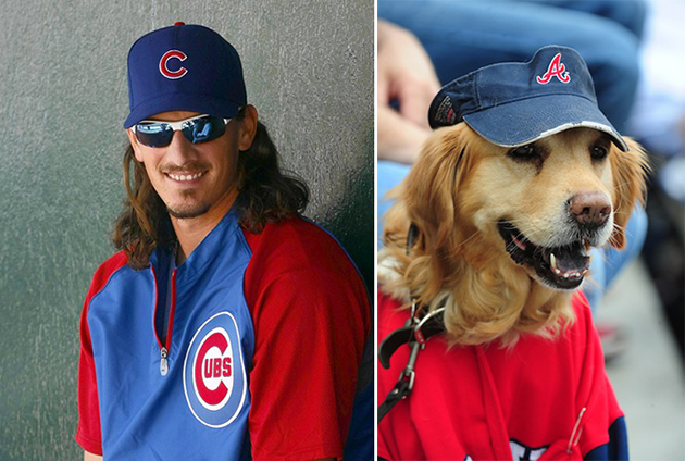 Doggelganger?! Cubs pitcher Jeff Samardzija looks like this Bra…