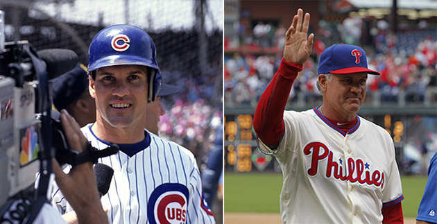 Ryne Sandberg returns to Wrigley Field — in a Phillies uniform