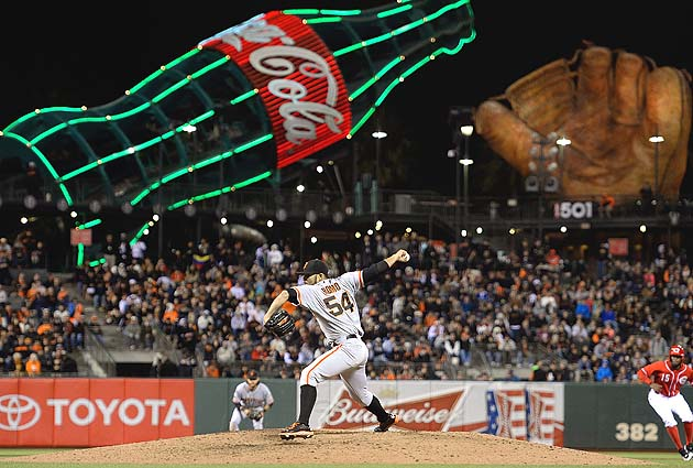 San Francisco Giants play as visitors in home ballpark