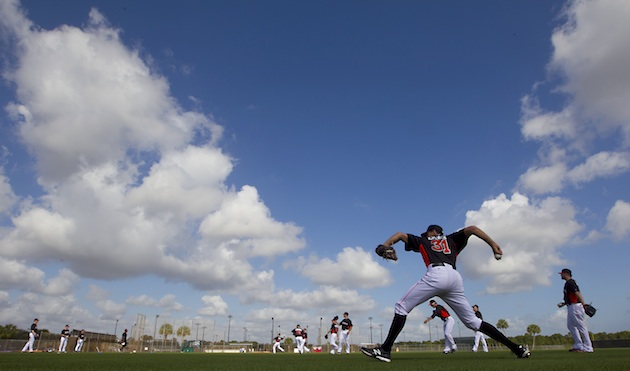 Woo hoo! Here are the spring training reporting dates for all 3…