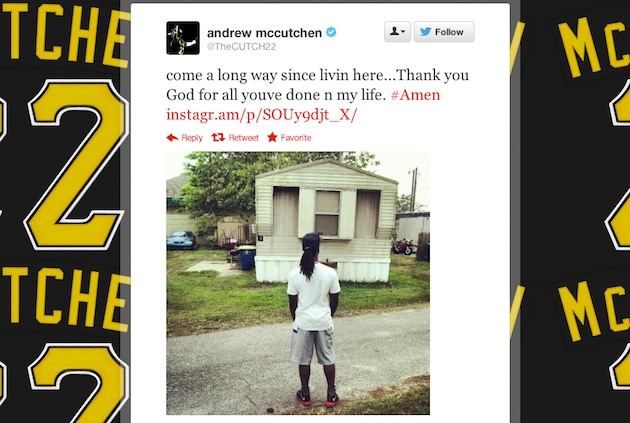 Andrew McCutchen tweets powerful picture of his humble beginnin…