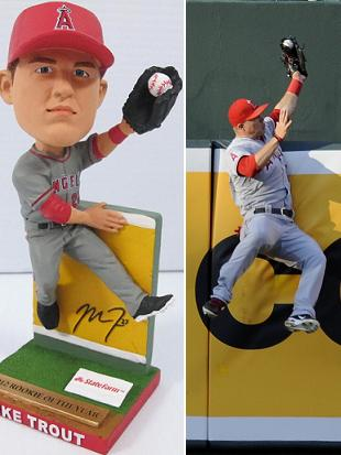 Mike Trout bobblehead pays tribute to amazing catch from rookie…