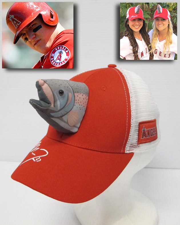 Mike Trout fish hats! Los Angeles Angels giving caps away June …