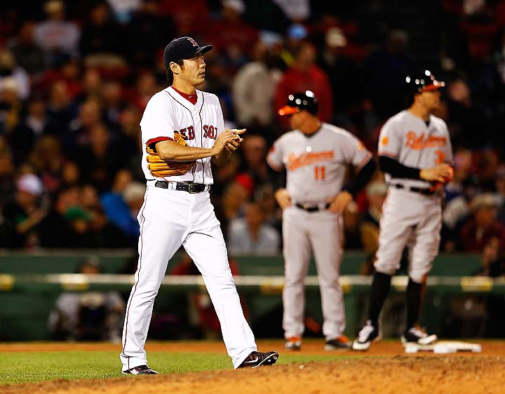 Koji Uehara's retired batters streak ends at 37 — four short of…